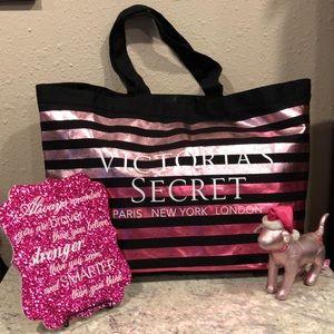 Victoria's Secret tote bag, PINK DOG, sparkly sign